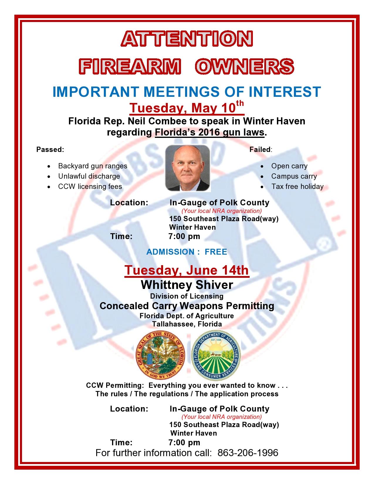 The CLUB – Events & Activities – In-Gauge of Polk County